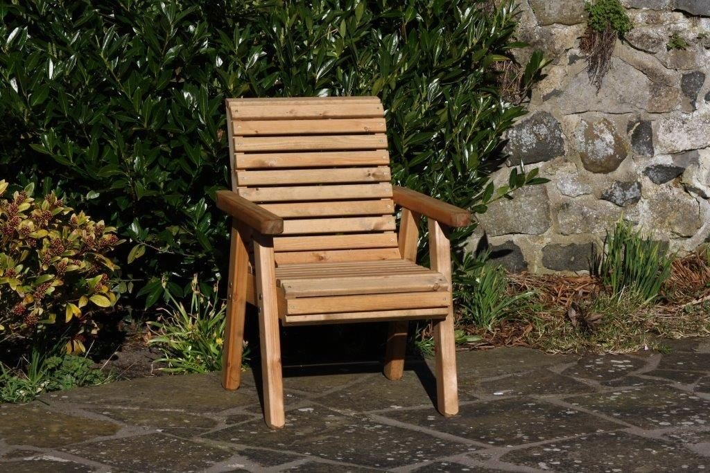 Wooden Garden Chair / Furniture / Patio Set High Back Roll Top AB Tools