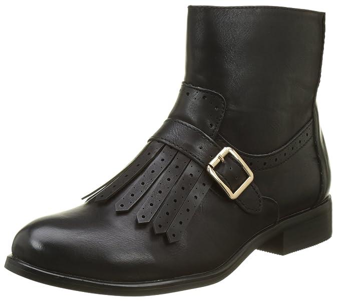 Buffalo Shoes Damen B195A-67 P2173A Leather PU Stiefel, Schwarz (Black 01), 36 EU