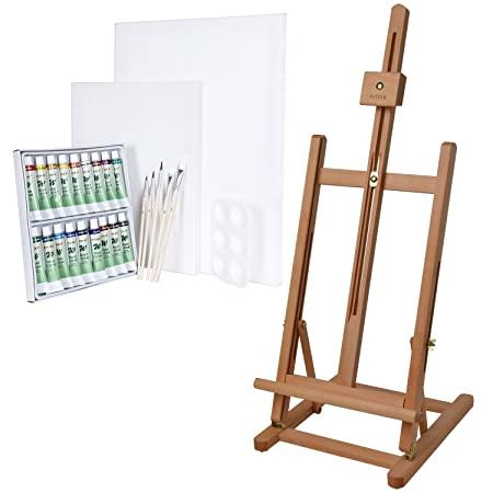 artina metz table easel display painting easel beech adjustable art