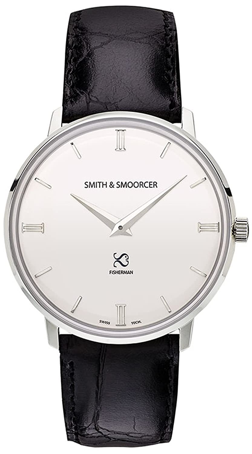 Smith & Smoorcer Fisherman Snowy Luxury Black Herr uhren F-1516-LUX-P-B-00