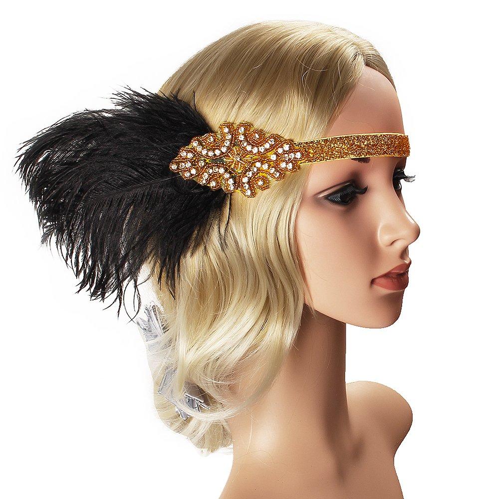 Halskette Zigarettenspitze Great Gatsby Zubeh/ör f/ür Frauen Handschuhe Beelittle 1922er Jahre Zubeh/ör Set Flapper Stirnband