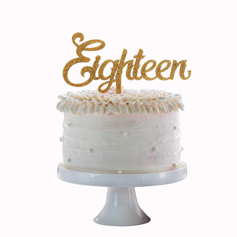 Amazon.com: Decoración para tartas de 18 años, 5 unidades ...