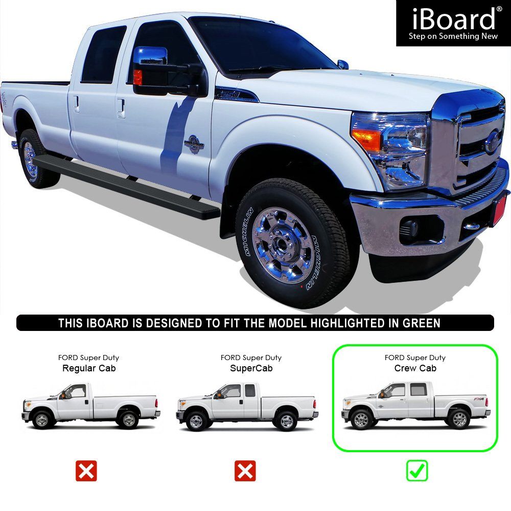 Amazon wheel to wheel running boards 5 custom fit 1999 2016 amazon wheel to wheel running boards 5 custom fit 1999 2016 ford f250 f350 super duty crew cab pickup 65ft bed nerf bars side steps side sciox Image collections