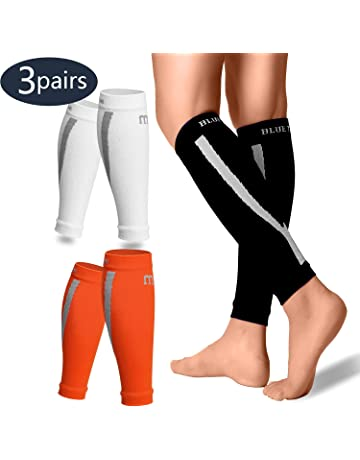 f25ada58e8 BLUETREE Calf Compression Sleeves Men & Women(3/6 Pairs) - Best Footless