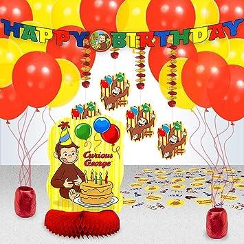 Jorge el curioso Kit de decoración de cumpleaños: Amazon.es ...