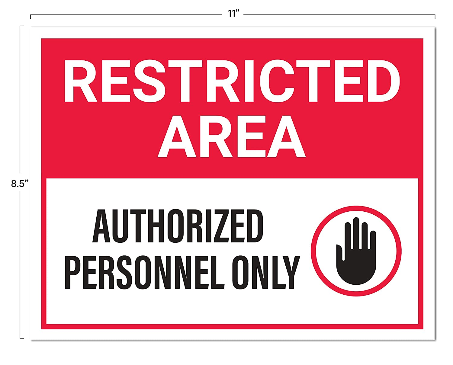 Restricted area authorized personnel only sticker signs pack of 4 amazon com industrial scientific