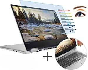 CaseBuy Anti-Glare Screen Protector Eye Protection Blue Light Filter for Lenovo Yoga 720 2-in-1 13.3 Inch & Ultra Thin TPU Keyboard Cover Accessories for Yoga 720 13.3