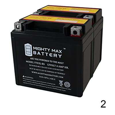 Mighty Max Battery YTX5L-BS Replaces Arctic Cat DVX 90 Metropolitan NPS50 Ruckus - 2 Pack Brand Product: Home Audio & Theater