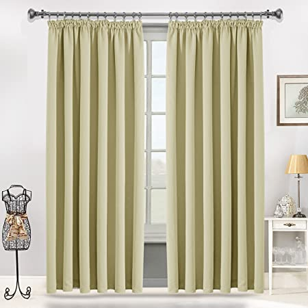 Interwoven Supersoft Insulated Thermal Blackout Pencil Pleat Pair Curtains For Living Room Bedroom 66quot