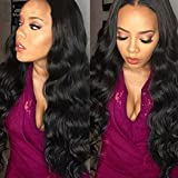 VoWigs Body Wave 360 Lace Frontal Wig 180% Density Brazilian Virgin Human Hair Natural Hairline Pre Plucked 360 Lace Wigs For Black Women