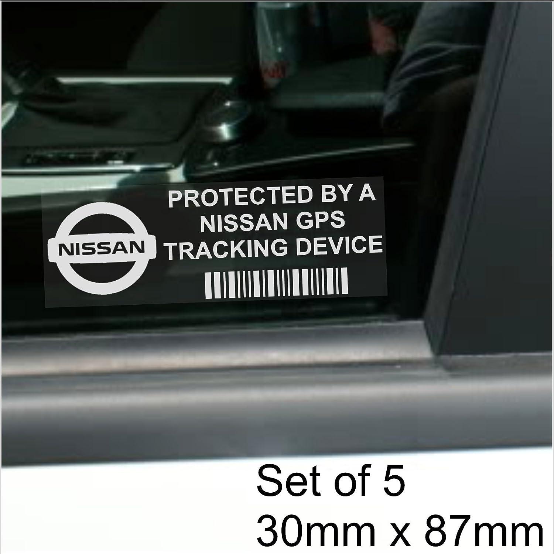 5 X Ppnissangps Gps Gprs Ortung Sicherheit Fenstertattoo 87 X 30 Mm Micra Juke Pulsar Gt Skyline R Auto Van Alarm Tracker Elektronik