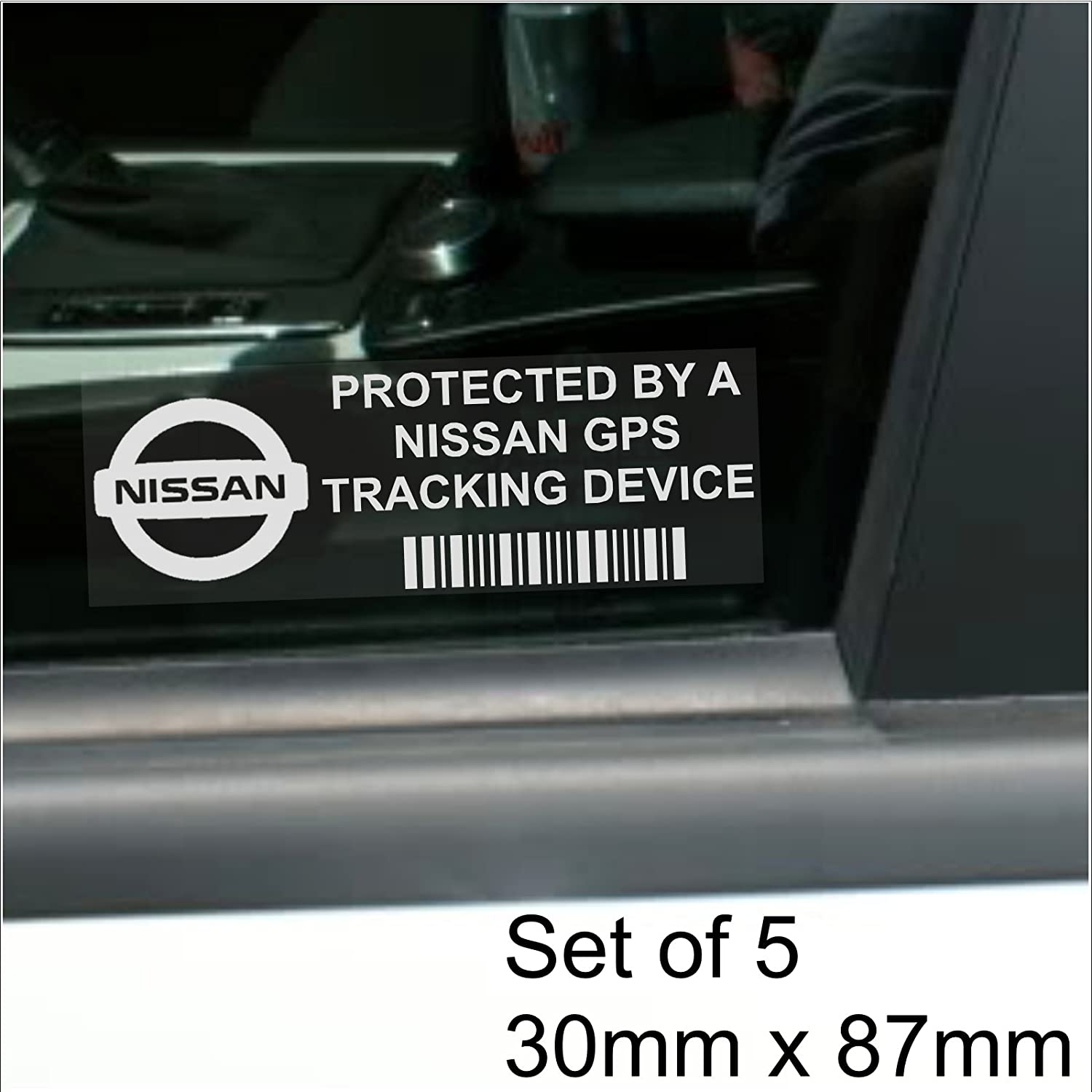 Platinum Place 5 x PPVAUXHALLGPS GPS Tracking Device Security WINDOW Stickers 87x30mm-Car,Van Alarm Tracker