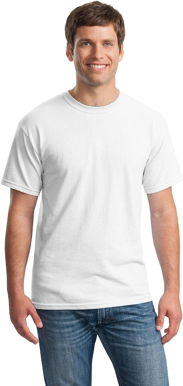 Gildan Men's Heavy Cotton T-Shirt, Black, Small. (Pack of 6)