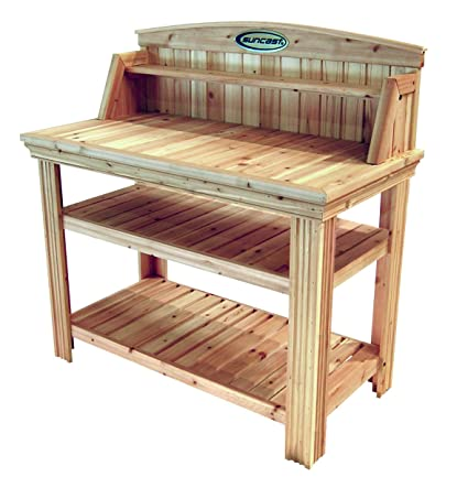 Exceptionnel Amazon.com : Suncast Cedar Freestanding Bench Ideal For Garages, Sheds,  Basements   Organize Garden Equipment Supplies, Pots, Watering Cans    Hardware ...