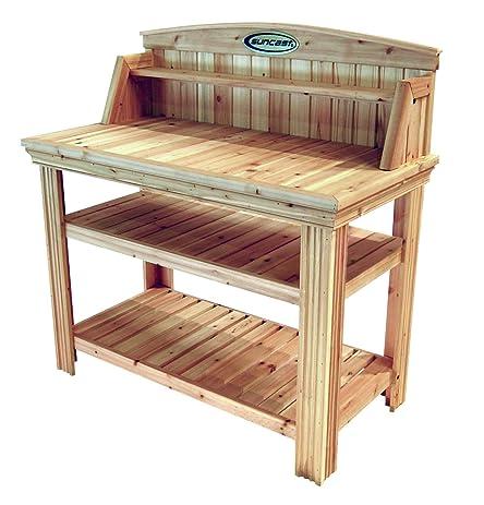 Amazon.com : Suncast PT4500 Cedar Potting Bench : Garden & Outdoor