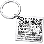3 Years of Marriage Keychain, Our 3rd Wedding Anniversary, 3 Years