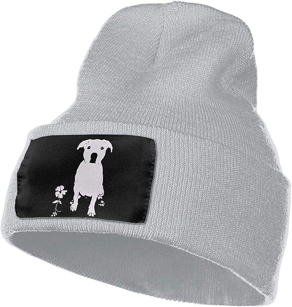 Rupde Laert Jerome Mens Womens 100/% Acrylic Knitting Hat Cap Pitbull Dog Silhouette-1 Fashion Ski Cap