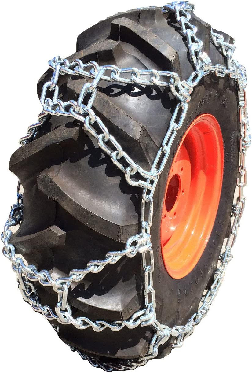 NEW ATV DIAMOND TIRE CHAINS PAIR 22 /& 23 /& 24   INCH TIRES SNOW PLOW V-BAR