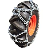 TireChain.com 9.5-24, 9.5 24 Duo Grip Tractor Tire Chains Set of 2