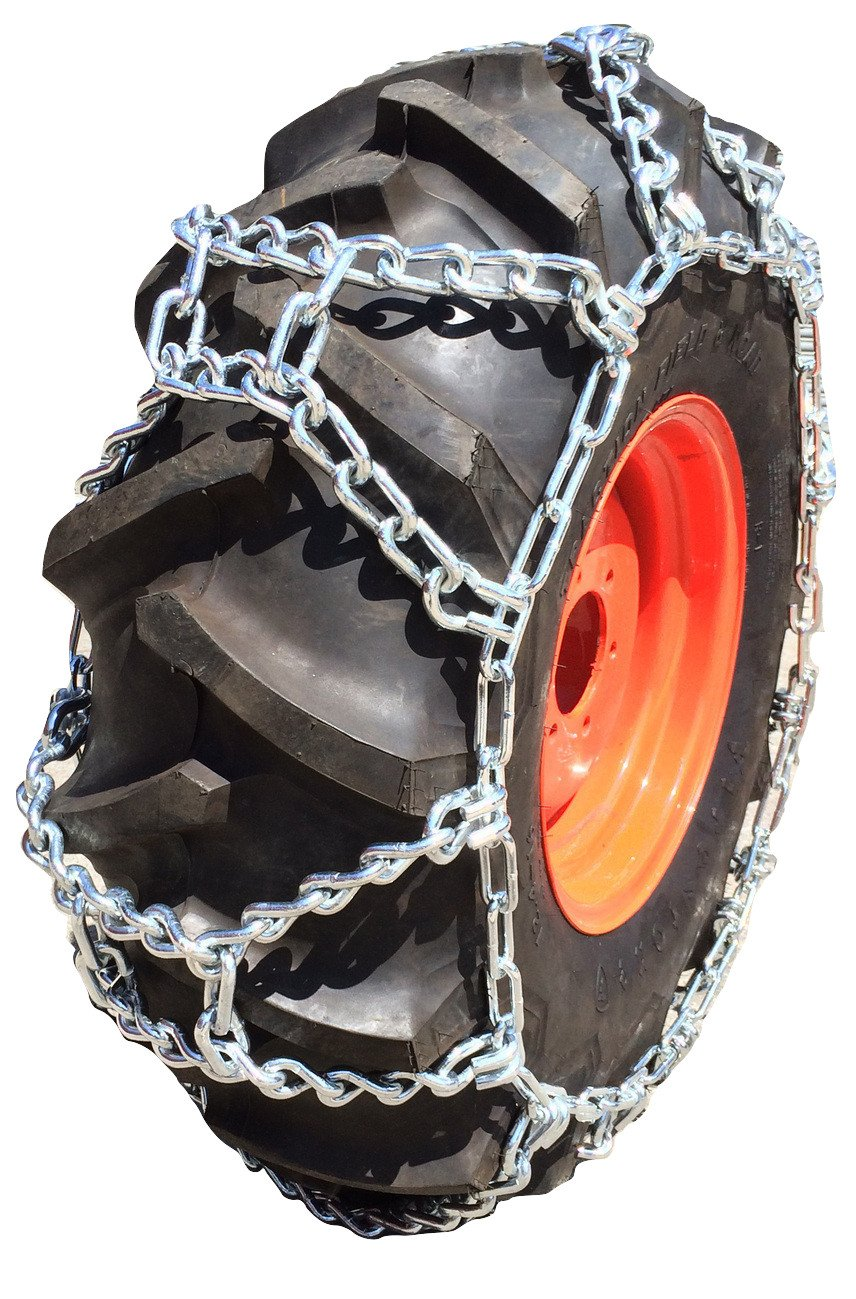 TireChain.com 9.5-24 9.5 24 Duo Grip Tractor Tire Chains Set of 2