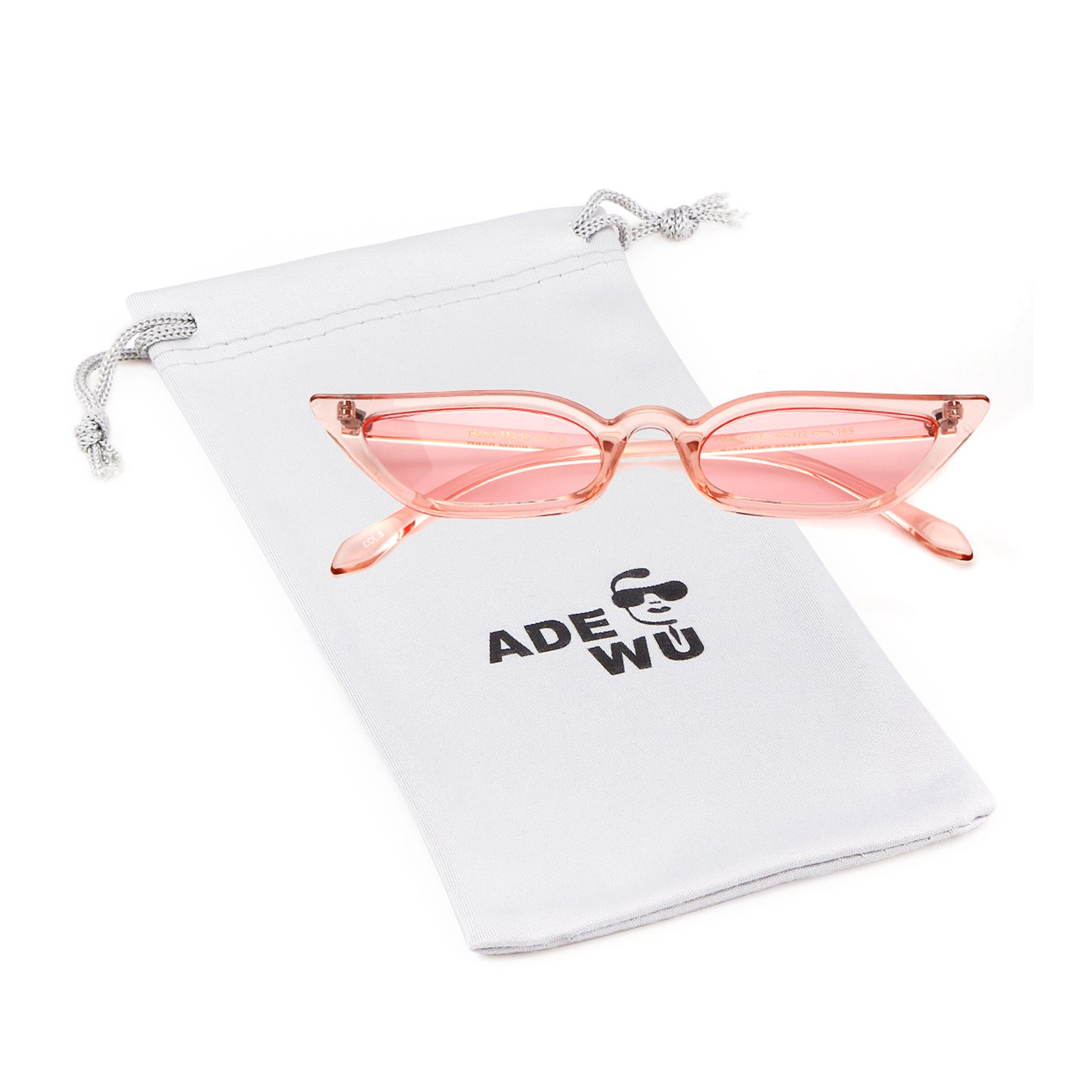 Vintage Sunglasses Women Cat Eye Candy lens Valentine's Day gift by ADEWU (Image #1)