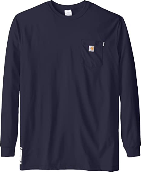 Amazon Com Carhartt Men S Big Tall Flame Resistant Force Cotton Long Sleeve T Shirt Industrial Scientific