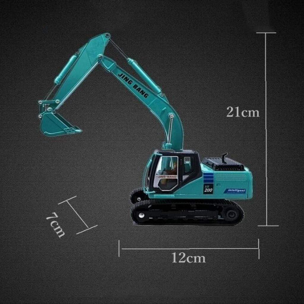 QRFDIAN 1:50 aleación Modelo de vehículo de ingeniería   Excavadora Grande Excavadora Sobre orugas   niños excavando Juguete   Coche de simulación   niño Juguete   colección de Juguetes de Metal para
