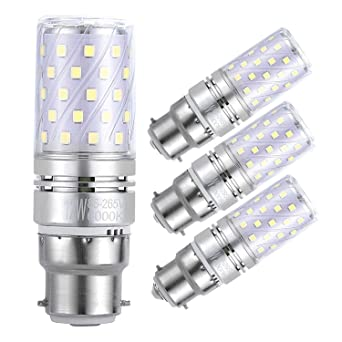 Sagel B22 LED Bombillas de Maíz 12W, 100W Bombillas Incandescentes Equivalente, 6000K Blanco Fresco