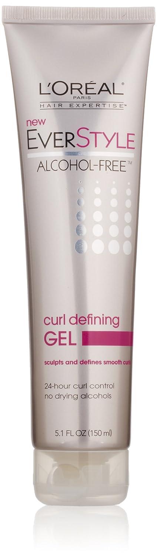 L'Oreal Paris EverStyle Curl Defining Gel, Alcohol-Free, 5.1 Fluid Ounce