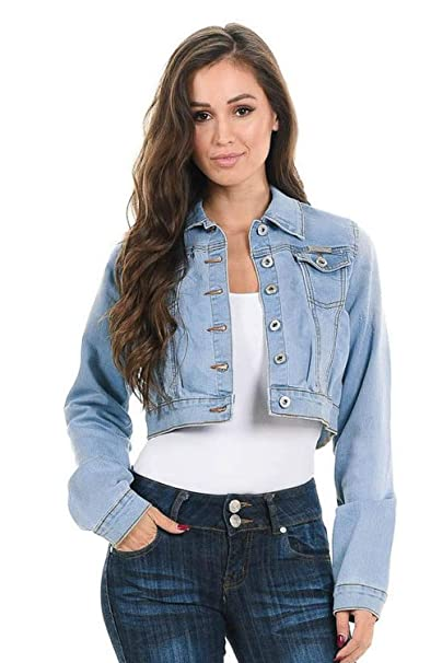 415fc532e1e9d Sweet Look Women s Denim Jacket · Style 292 · Blue · Size Small at Amazon Women s  Coats Shop