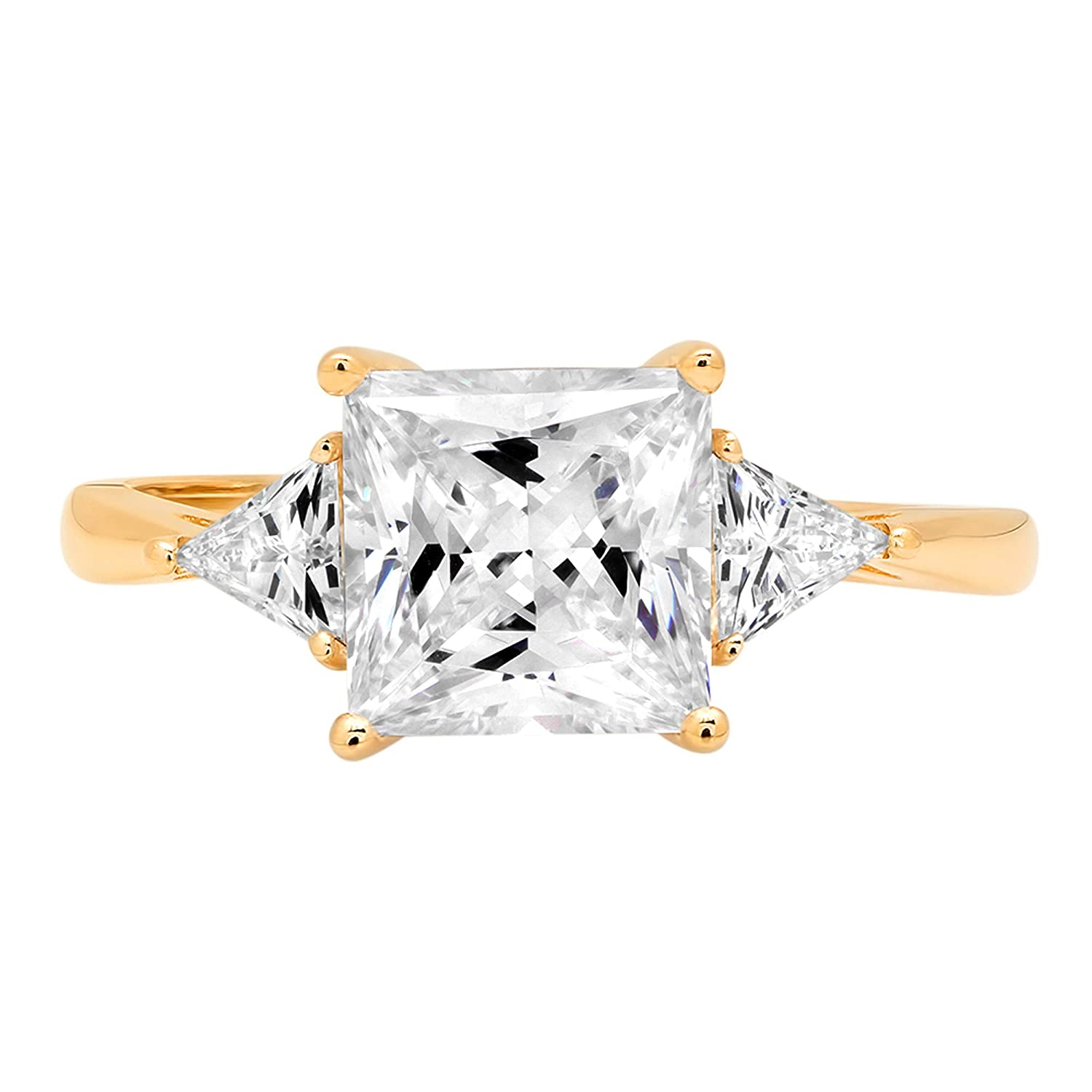1.66ct Princess Wedding Engagement Promise Bridal Solitaire Ring 14k Yellow Gold
