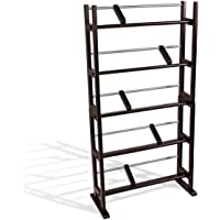 Atlantic Element Media Storage Rack - Holds Up to 230 CDs or 150 DVDs, Contemporary Wood & Metal Design with Wide Feet…