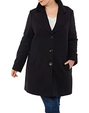 c95a6e21c8d alpine swiss Womens Plus Size Wool Overcoat Classic Notch Lapel Walking Coat