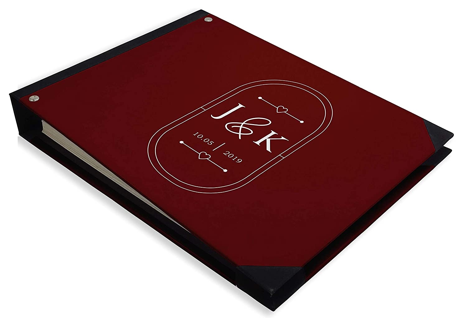 Darling Souvenir Red Heart /& Frame Wedding Guest Book Hardbound Guest Sign-in Book Guest Registry Guestbook-7 x 9 Inches