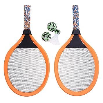 86909ac25 LIOOBO 1 par de Raquetas de Tenis para niños Palying Badminton Raquetas  ovaladas Accesorios de Juegos