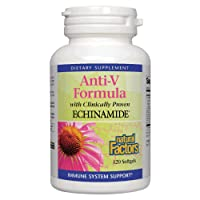 Natural Factors, Anti-V Formula, Echinacea Supplement for Immune and Wellness Support, Organic, Non-GMO, 120 softgels (120 Servings)