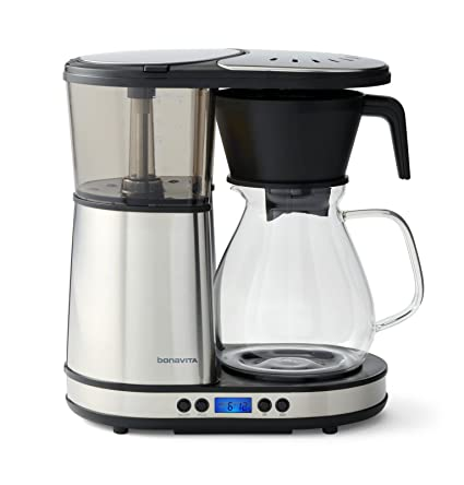 amazon com bonavita bv1902dw 8 cup one touch coffee maker featuring
