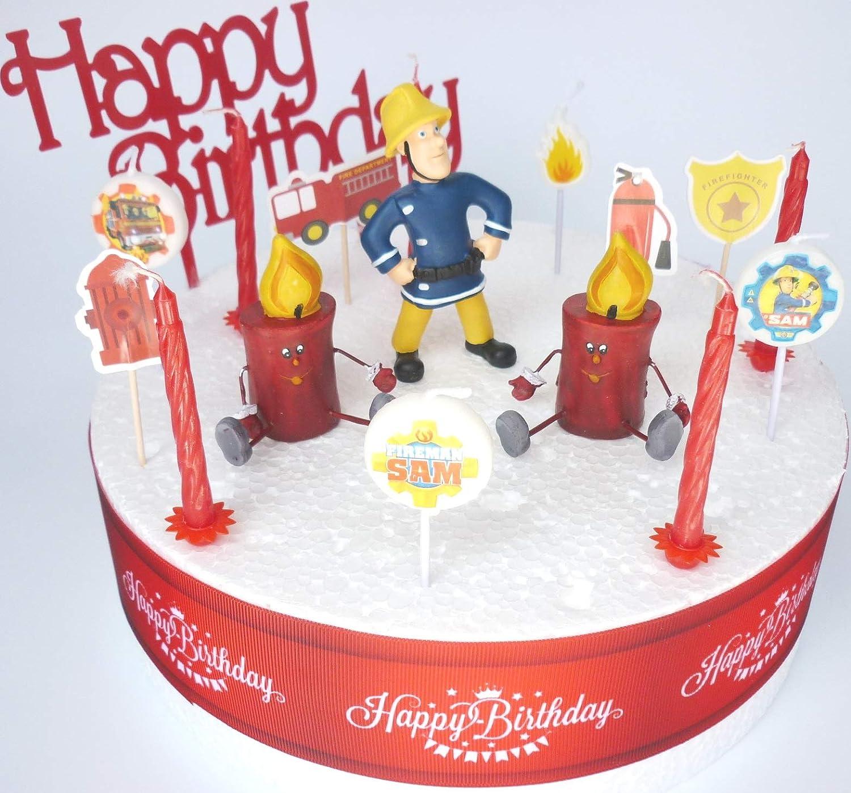 Fireman SAM - Juego de decoración para tarta de cumpleaños ...