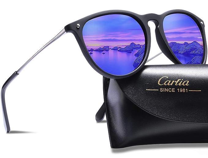 Gafas de Sol Polarizadas, Carfia UV400 Gafas de Sol Polarizadas Metal de Moda para Conducción