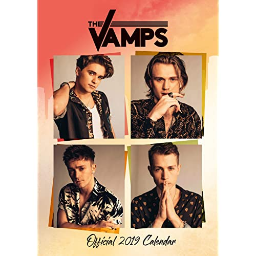 The Vamps Official 2019 A3 Wall Calendar with Organising Stickers, 12 Month Calendar. Great Gift.