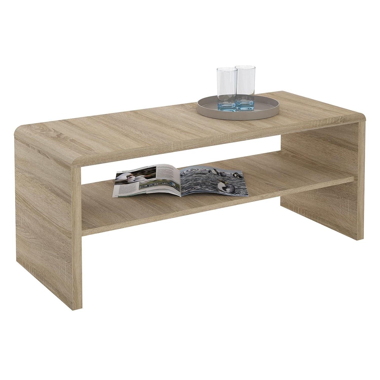 Cool Lowboard Eiche Weiß Sammlung Von Caro-möbel Tv Couchtisch Fernsehtisch Lenni, In Sonoma