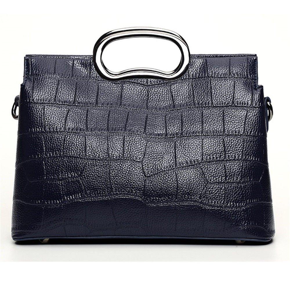 SJMM Schultertasche Handtasche mit Schulterriemen, Blau, 24 X 15 X 11 cm