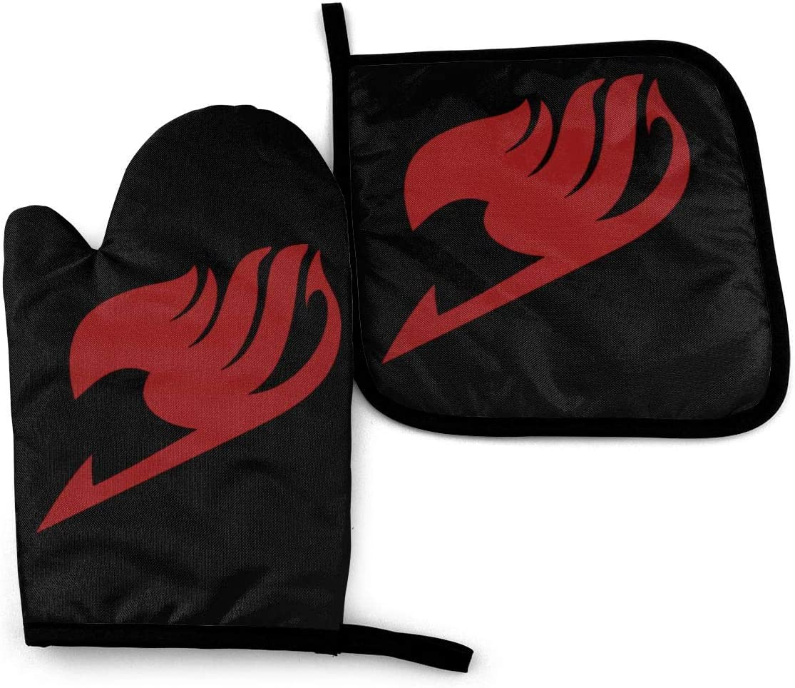 1563 Fairy Tail Oven Mitts and Pot Holders Sets Anti-Scalding and Heat Insulation