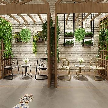 WRJ@ Silla de Comedor nórdico Moderno Minimalista balcón Interior ...