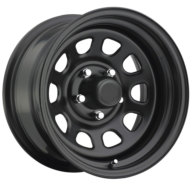 Trailmaster TM5-5865F TM5 Steel Wheel; Size 15X8 ;Bolt Pattern: 5x4.5 ;Back Space 3.75 in.; Finish Flat Black;