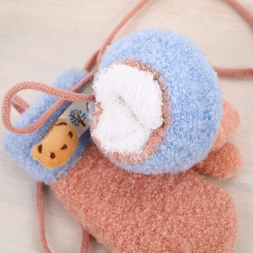 Celendi Toddler Baby Cute Cartoon Winter Gloves Kids Girls Boys Cute Gloves