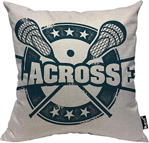 Mugod Lacrosse Throw Pillow