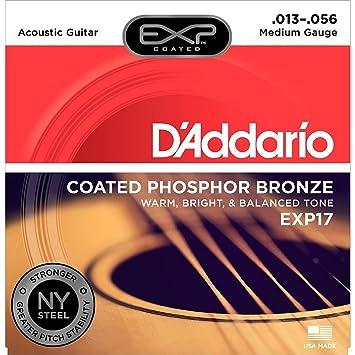 DAddario EXP17 - Juego de Cuerdas para Guitarra Acústica de Fósforo/Bronce,
