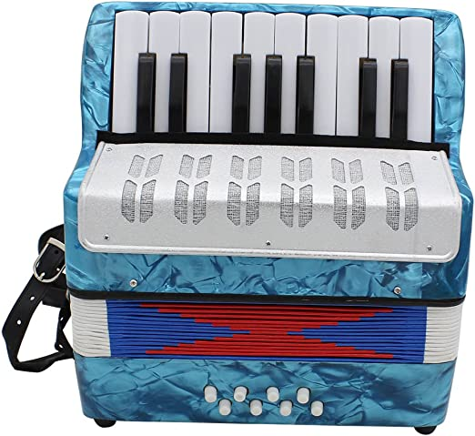 Rosso ZANTEC Mini Fisarmonica 17 Tasti 8 Bass Professionale per Bambini Adulti