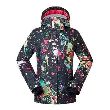 Zjsjacket Traje de Esqui Chaquetas de Snow para Mujer, Deportes al Aire Libre, Traje